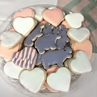 Hippos and Hearts Sugar Cookies