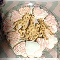 Giraffe's and Hearts Sugar Cookies